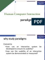 HCI-lecture 4 (Paradigms)