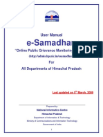 ESamadhan User Manual
