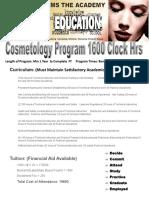 Cosmetology Program Info