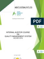 QMS 9001 2015 Internal Auditor Course - Aspiris Management Systems Pvt Ltd.pptx