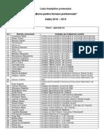 Lista Finalistilor BFP 2018-2019