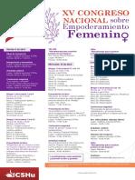 Cartel Xv Congreso Nacional Sobre Empoderamiento Femenino (1)