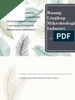 Pendauluan Mikrobioloi Industri
