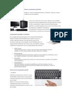 PCs de Escritorio vs Computadoras Portátiles