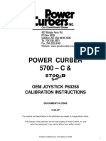 Power Curber 5700C 25585 - Joystick Calibration Instructions