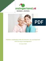 Onderzoek naar zorg en welzijn Lansingerland