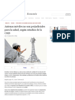 Antenas Móviles No Son Perjudiciales Para La Salud - Según Estudios de La OMS _ LaRepublica