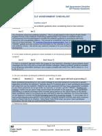 Self Assessment Checklist  GP questions  v4.docx