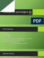 Evaluación Psicológica de José Alejandro Barrón Quiñonez
