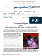 9 Rules for Successful Weld Repair of High Strength Steel