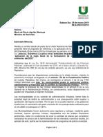 Carta Ungl al Ministerio de Hacienda