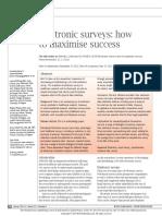 Electronic Surveys How