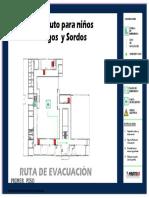 Planos Ciegos y Sordos Evacuacion - Braille A1 3-4