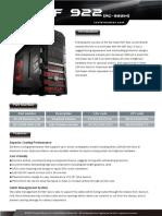 HAF 922 Product Sheet