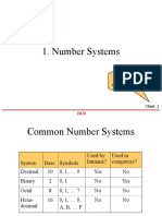 DLD Lect 2 NumberSystems
