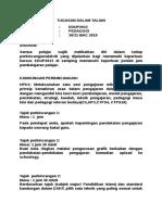 Tugasan Dalam Talian Edup2033 Terkini