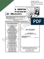 Carta Orgánica del Municipio de San Javier Provincia de Misiones