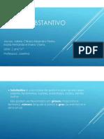 Trabalho de Portugês- SUBSTANTIVO