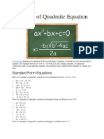 Examples of Quadratic Equation.docx