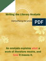 Writing literary analysis