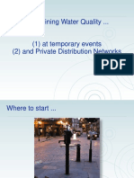 Maintaining Water Quality at Temporary Events Etc