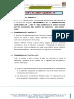 0 Especificaciones Generales CHURICANCHI