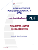 Metodología a la investigacion cientifica