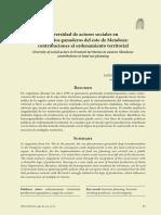 Diversidad de Actores Sociales en Territorios Ganaderos Del Este de Mendoza...
