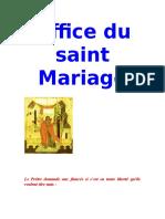 Office du saint Mariage.doc