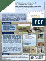 A STUDY OF WATER-BASED ECOTOURISM AT BUENG BORAPET WETLAND, NAKHON SAWAN PROVINCE, THAILAND