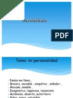 Caligramas y Acróstico.