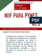 Presentación NIC 8 y Sección 10 NIIF PYMES
