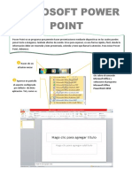 Power Point es un programa que permite hacer presentaciones mediante diapositivas en las cuales puedes poner texto e imágenes.docx