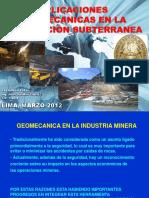 Aplicaciones Geomecanicas en La Explotacion Subterranea