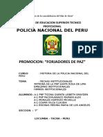 Caratula Pnp Policia Nacional Del Peru