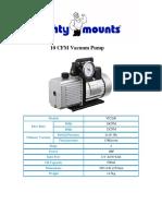 Mighty Mount 10 c Fm Vacuumpump