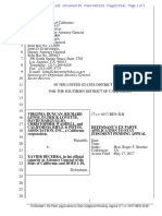 2019 04 01 Defendants Ex Parte to Stay Judgment Pending Appeal