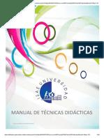 Manual de Técnicas Didácticas