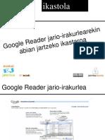 Google Reader euskaraz