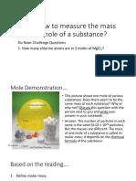 Molar Mass and Mass to Moles Conversions