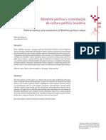 Memória política e cultura política brasileira