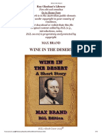 Wine in the Desert - Max Brand