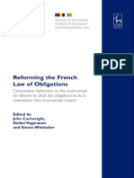 John Cartwright, Stefan Vogenauer, Simon Whittaker - Reforming the French Law of Obligations_ Comparative Reflections on the Avant-Projet De Reforme Du Droit Des Obligations Et De La Prescription, ('the Avant-projet ... Institu.pdf