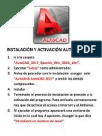 Activación AutoCad 2017