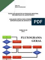 Fluxograma No Processo de Especificação Para Aquisição de Equipamentos