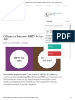 Difference Between MRTP Act and Competition Act (With Comparison Chart) - Key Differences