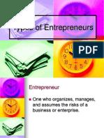 Types Entrepreneurs