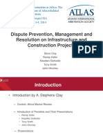 Dispute Prevention Resolution Infrastructure Construction Projects