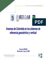 24 Avances Colombia Sistemas de Referencia de La Rosa