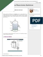 Tipos de Reactores Químicos Con Sus Características